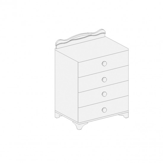BSFY 065 Four Drawer Chest of Drawers - White